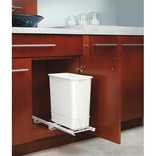 Rev-A-Shelf Replacement 5 Gallon Pull Out/Under Counter Pull Out/Under Counter Trash Can