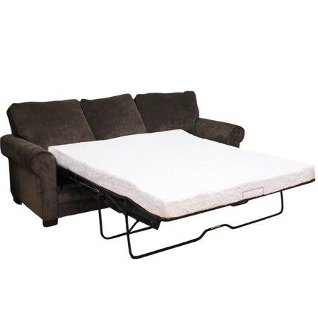 "Pemberly Row 4.5"" Queen Cool Gel Memory Foam Sofa Bed Mattress"