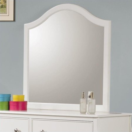 (Coaster Company Dominique Bedroom Mirror, White)