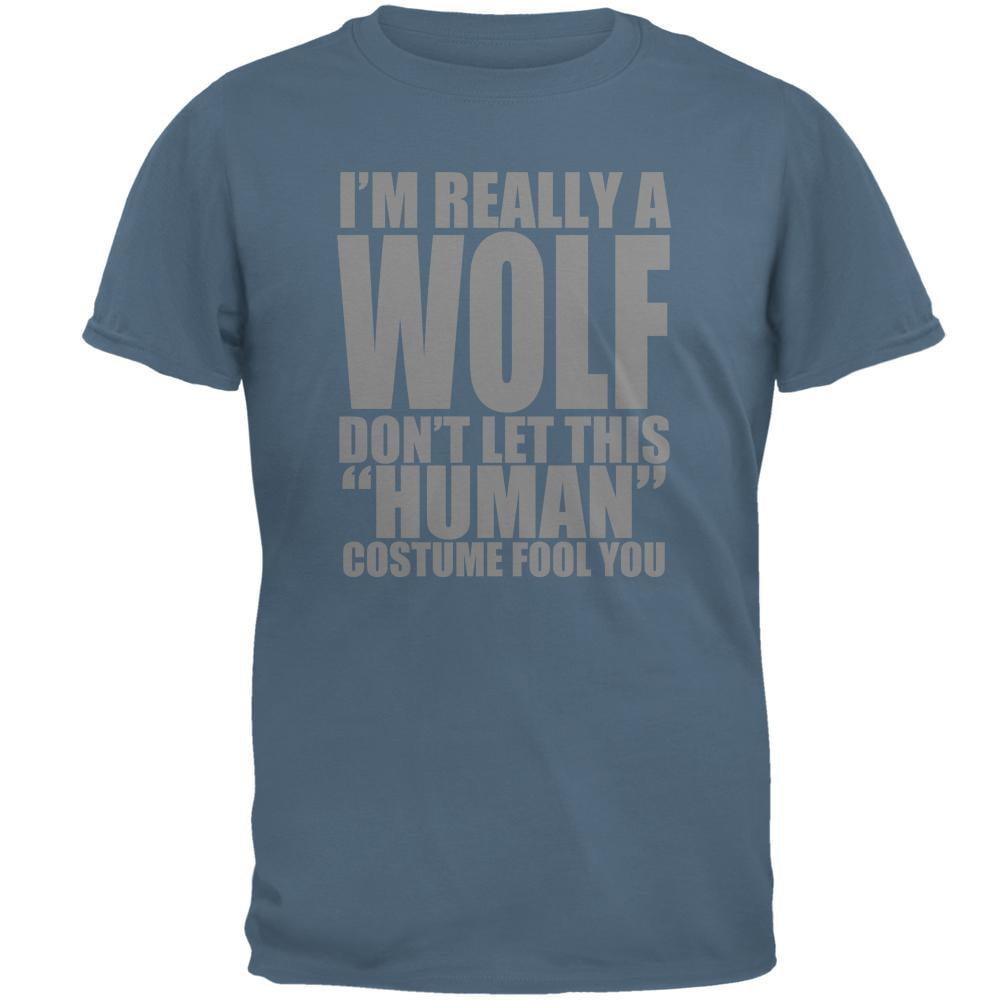 Human Wolf Costume Mens T Shirt