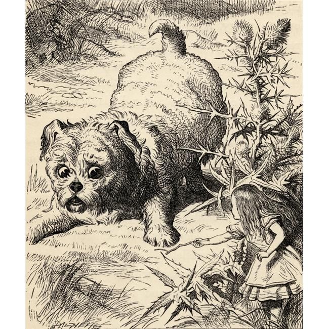 Posterazzi DPI1856594LARGE Alice Shrinks & Meets The Puppy Illustration by John Tenniel From The Book Alicess Adventures In Wonderland by Lewis Poster Print, Large - 26 x 30