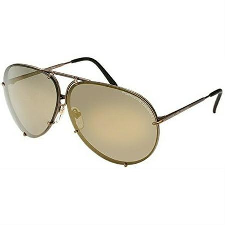Porsche Design P8478 Aviator Unisex Sunglasses - (2 pairs of lenses included)