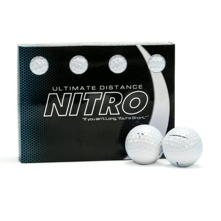Golf Training Balls - Nitro Golf Ultimate Distance Golf Balls, 12 Pack