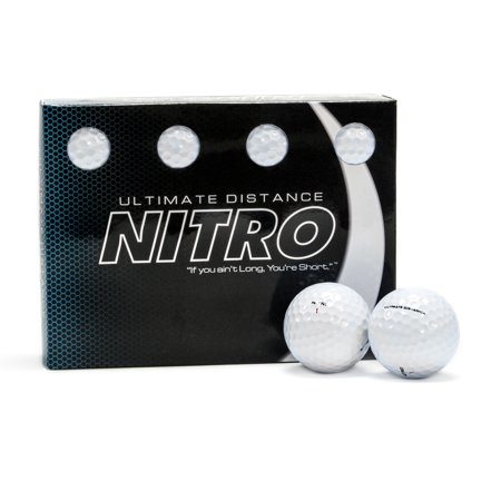 Nitro Golf Ultimate Distance Golf Balls, 12 Pack - Hand Signed Golf Ball