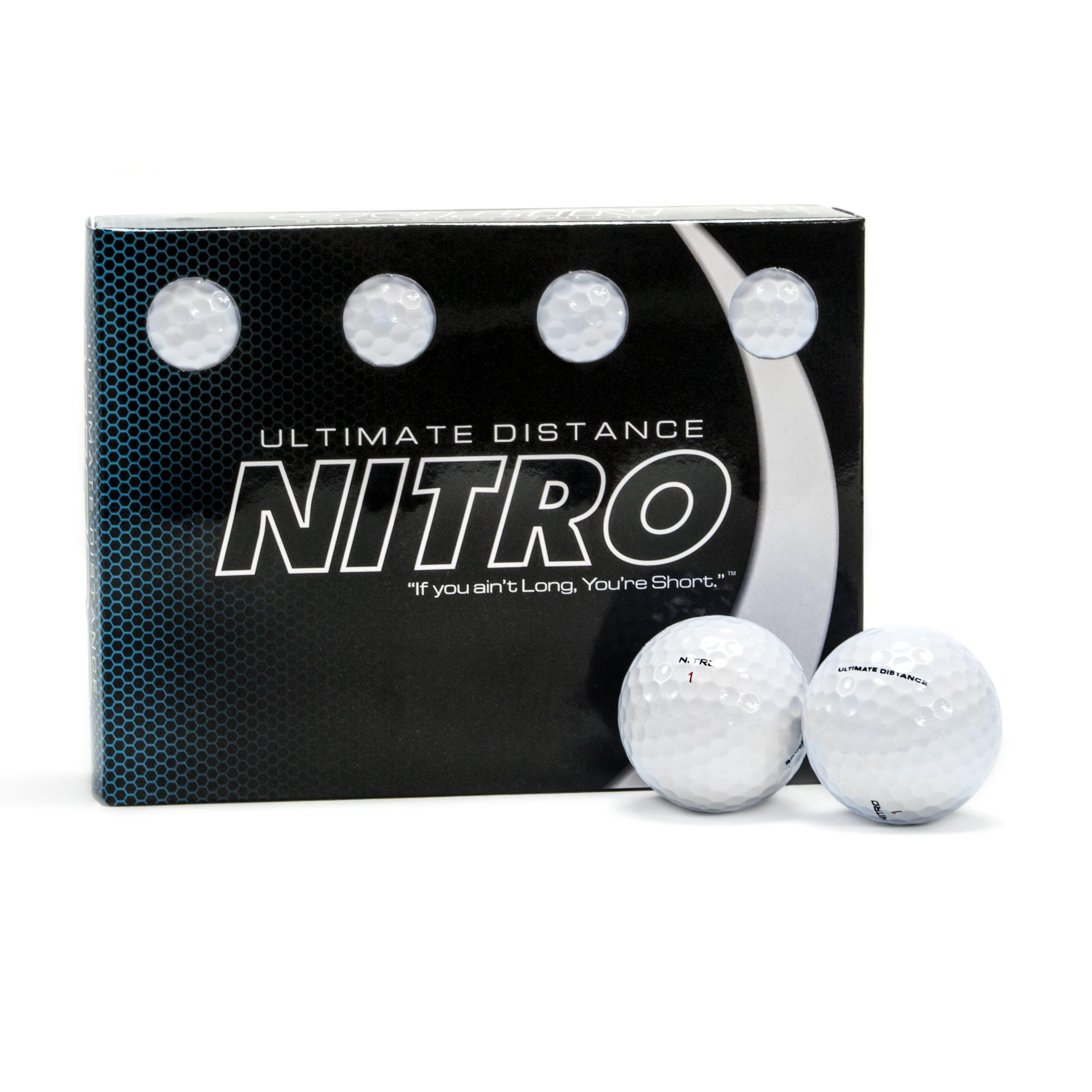 Nitro Ultimate Distance Golf Balls, 12 Pack