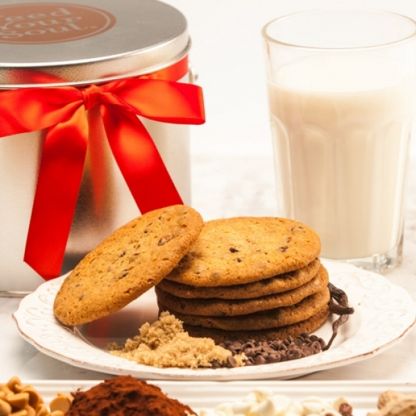 A Little Something Sweet Gourmet Cookie Tin 6 Piece by