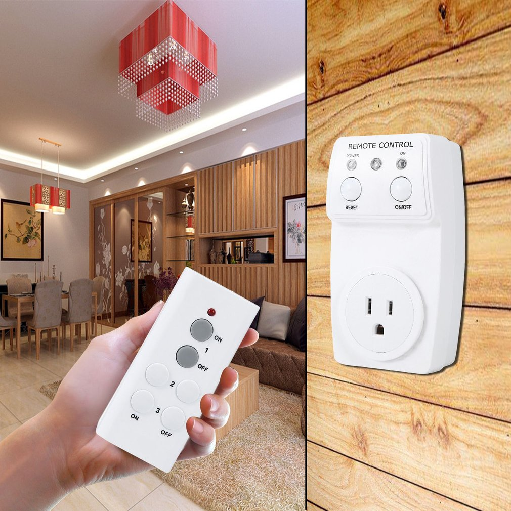 Home Appliances Wireless AC Power Outlet Electrical Light Switch Socket With Hand Held Remote Control US Plug