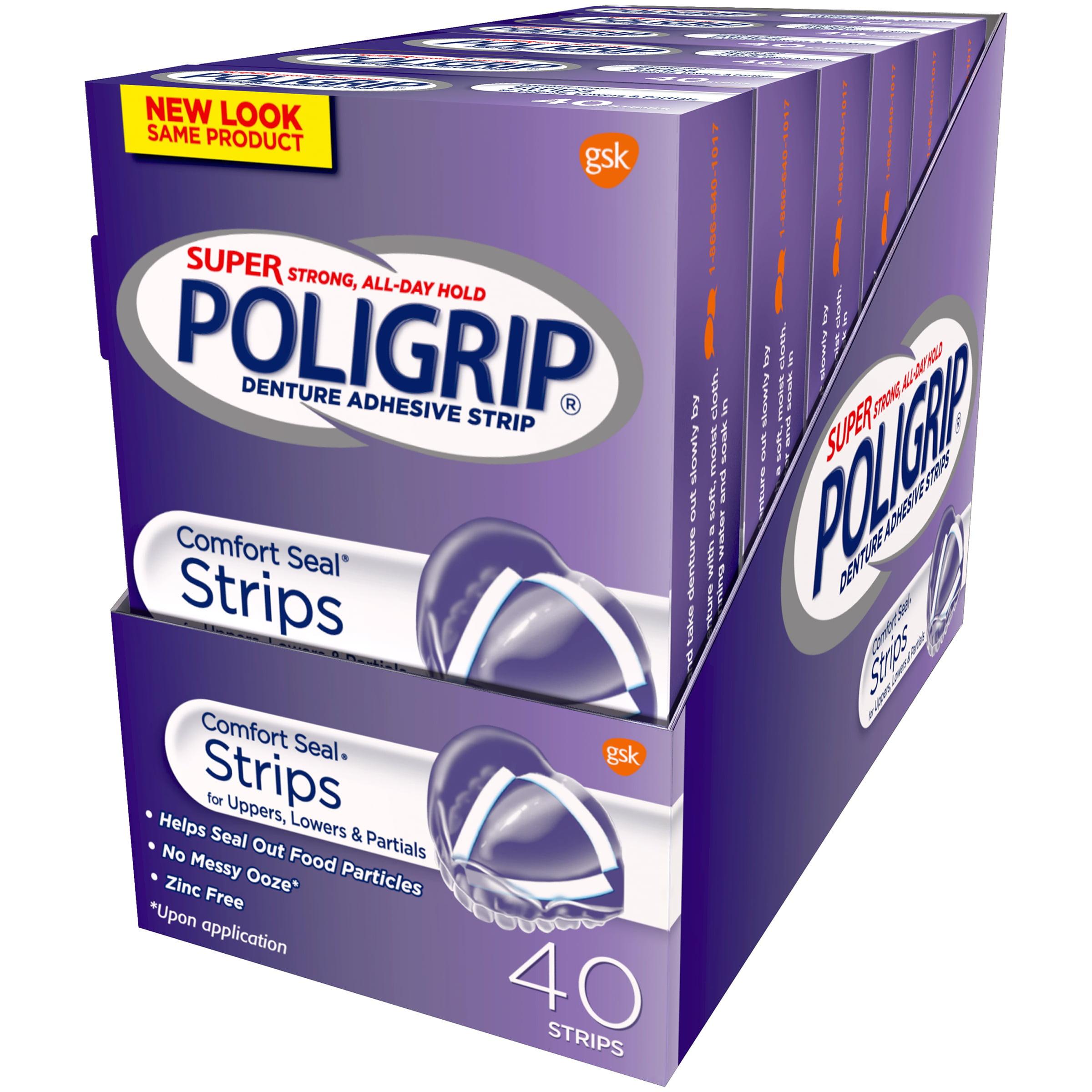 Cushion grip denture adhesive walmart - Super Poligrip Comfort Seal Denture Adhesive Strips 40 Count Boxes Walmart Com