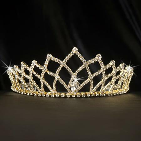 Gold Grand Coronation Tiara Gold Sequin Tiara