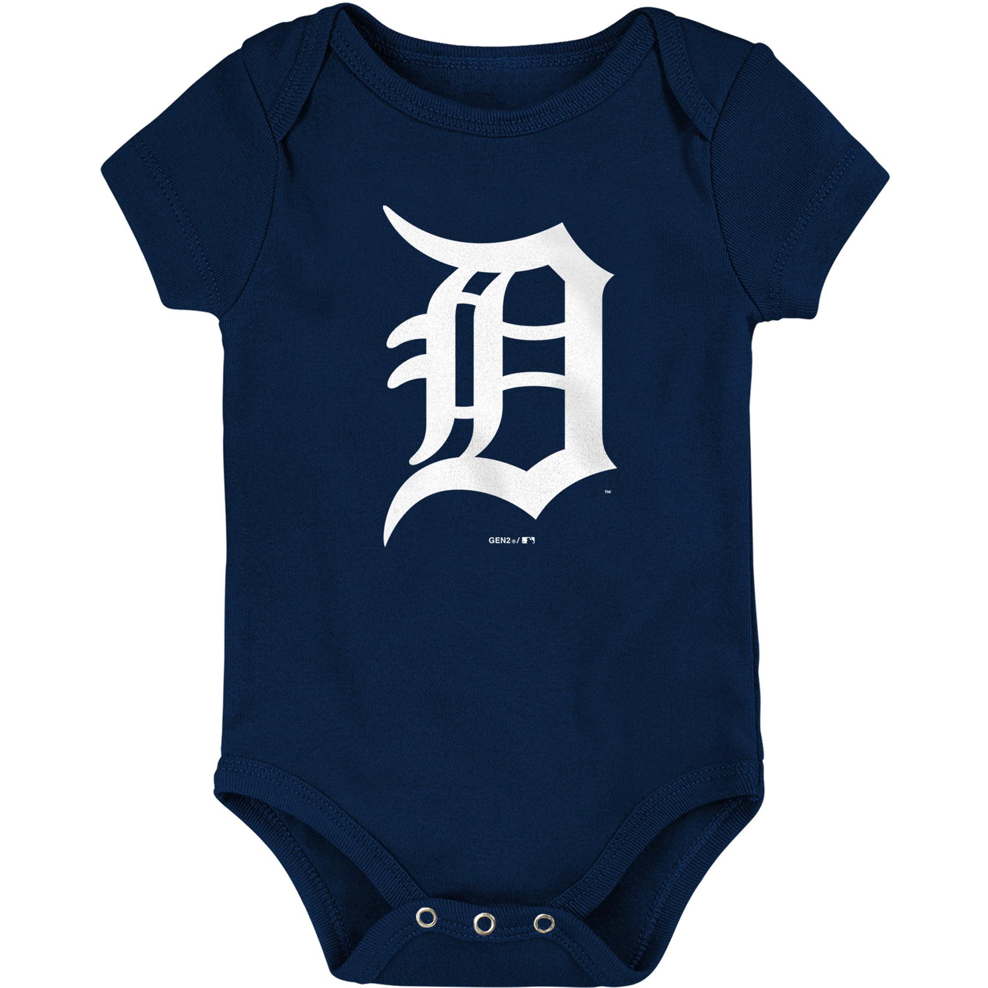 Detroit Tigers Newborn & Infant Primary Logo Bodysuit - Navy