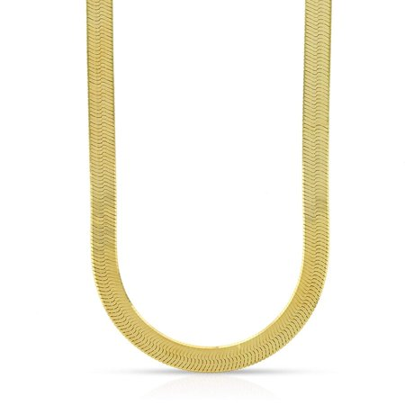 "14k Yellow Gold 5mm Imperial Herringbone Chain Necklace 16"" - 24"""
