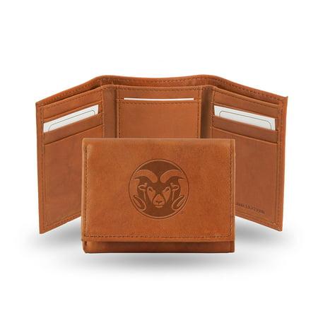 Colorado State Rams  Tri-Fold Wallet (Pecan Cowhide)