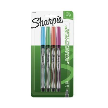 Sharpie Plastic Point Stick Pen, Assorted Fashion Colors, - Personalized Pen Set