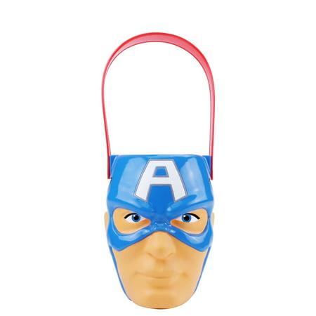 Halloween Captain America Figural Plastic Pail for $<!---->