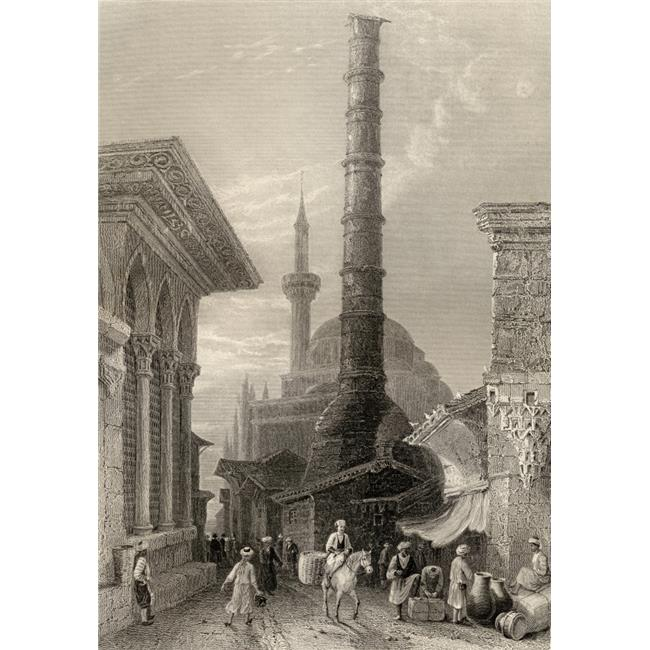 Posterazzi DPI1857165 The Tchernberle Tash Or Burnt Pillar Constantinople Istanbul TurkeyEngraved by J Carter After WHBartlett Poster Print, 12 x 17 - image 1 of 1