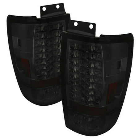 Tail Lights G2 Carbon - Fits Smoked 97-02 Expedition Sport SUV G2 LED Tail Brake Lights Lamps Left+Right
