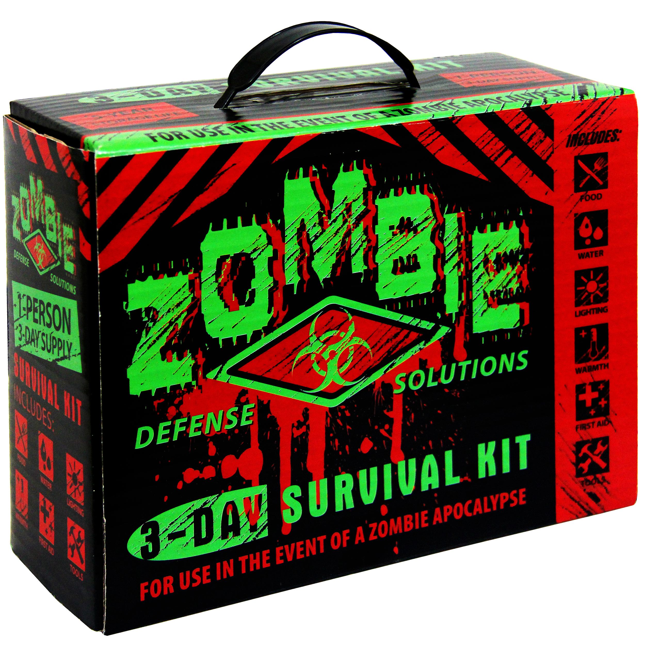 New Zombie 3-Day Defense Survival Kit Walking Dead Disaster Emergency Bug Out by Crosslinks