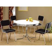 A Line Furniture Monticello Nostalgic Bistro Chrome 5-piece Dining Set