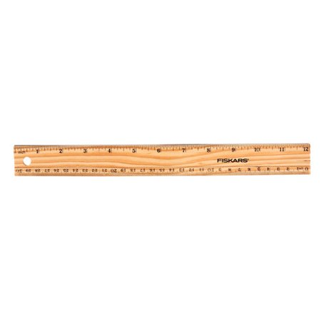 "Fiskars 12"" Wood Ruler"