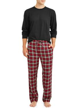 Hanes Men's ComfortSoft Long Sleeve Crew & 100% Cotton Flannel Pant