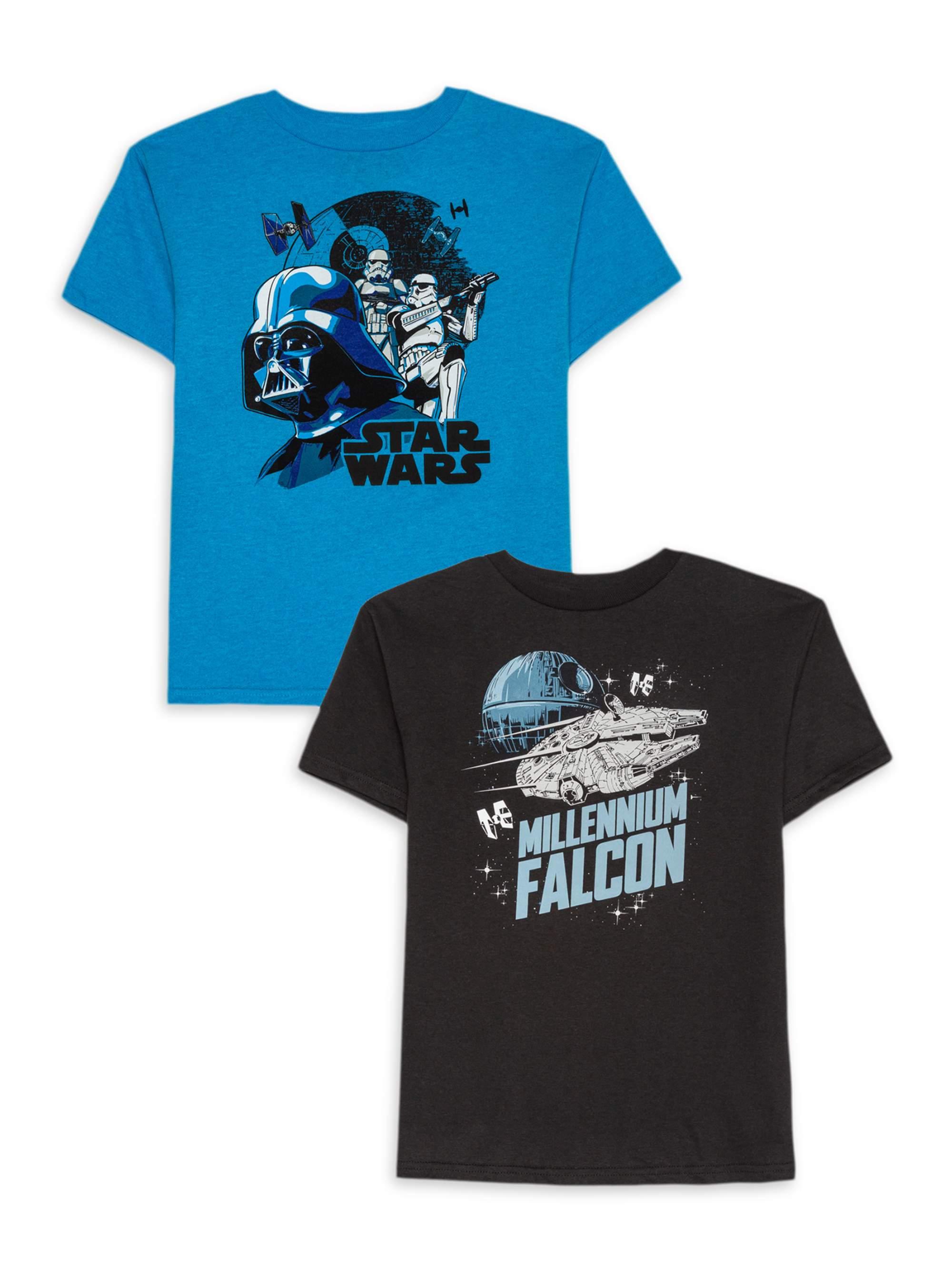 NEW Lucasfilm Star Wars The Force Awakens Boys Pajama Shirt Pants Set size 4 6