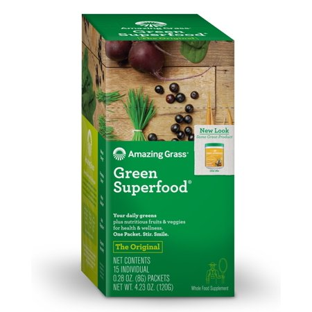 Image of Amazing Grass Green SuperFood Drink Powder 15 Packets - Vegan