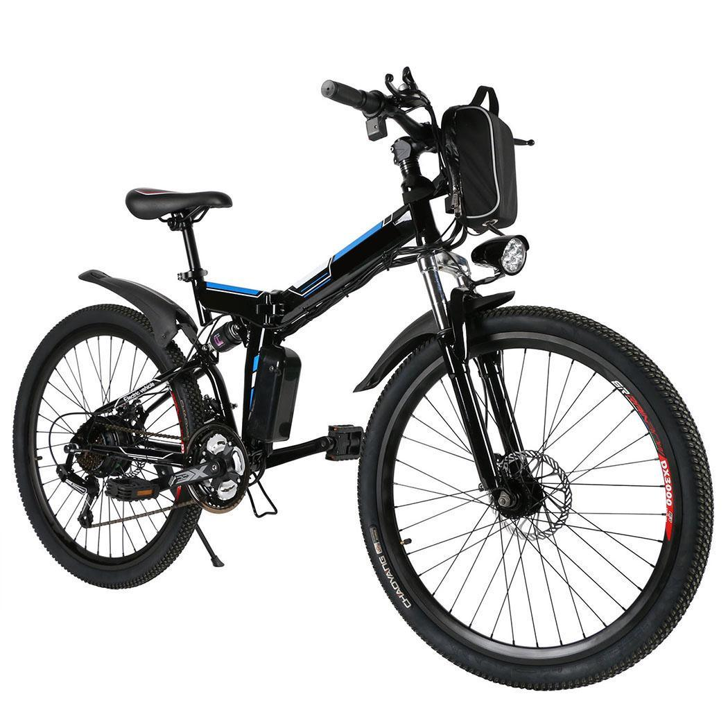 "Lowest Price ever !  Adult 21 Speed Folding Electric Mountain Bike with 26"" Aluminum Alloy Wheel,36V E Bike for Men and Women,330lbs Capacity and 15~30 Mile Range"