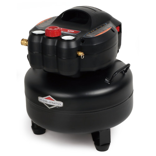 Briggs & Stratton 210641 6 Gallon 1.5 HP 135 PSI Pancake Air Tank, 0210641