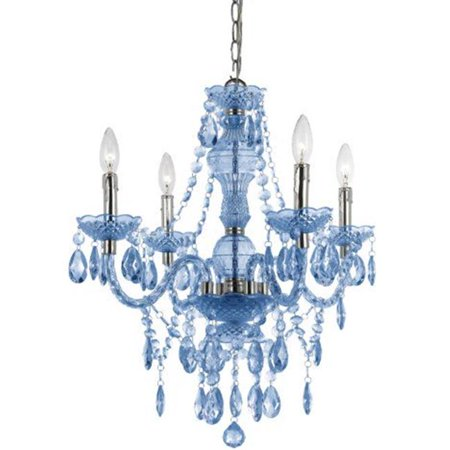 AF Lighting 8352-4HM Naples Four Light Mini Chandelier, Light Blue Collection Four Light Mini Chandelier