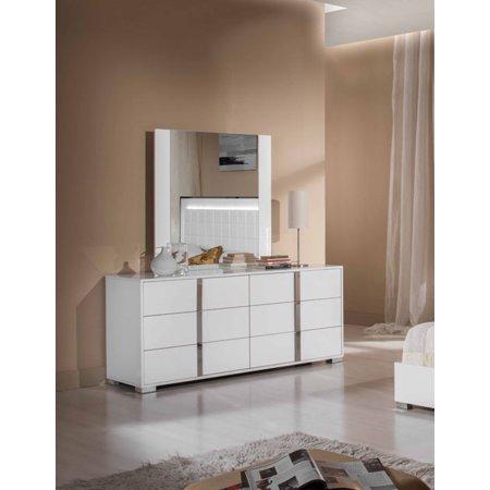 Modrest San Marino Modern White Mirror-Color:White,Finish:White,Shape_:Rectangular