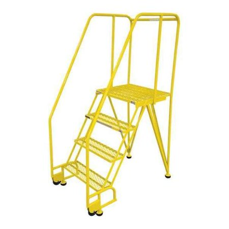 COTTERMAN 4STR26A3E20B8C2P6 Tilt and Roll Ldr,Steel,70In. H.,Yellow - Roll Ladder