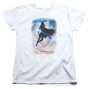 Supergirl Endless Sky Womens Short Sleeve Shirt