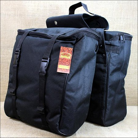 U-HILASON BLACK WESTERN HORSE TACK CORDURA INSULATED SADDLE BAG