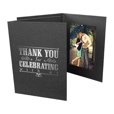 Thank You For Celebrating 4x6 Vertical Event Photo Folders (25 Pack)