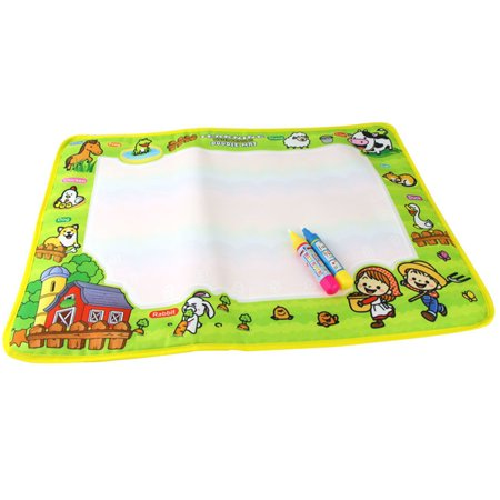 "23""*15"" Kids Baby Happy Farm Magic Water Painting Drawing Mats Board Magic Pen Doodle Gift"