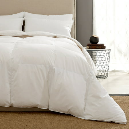 Puredown Heavy Weight White Goose Down Fiber Gusseted Comforter, (Heavy Tin)