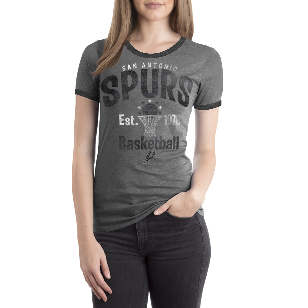 San Antonio Spurs Women's NBA Short Sleeve Biblend Crew Neck Tee