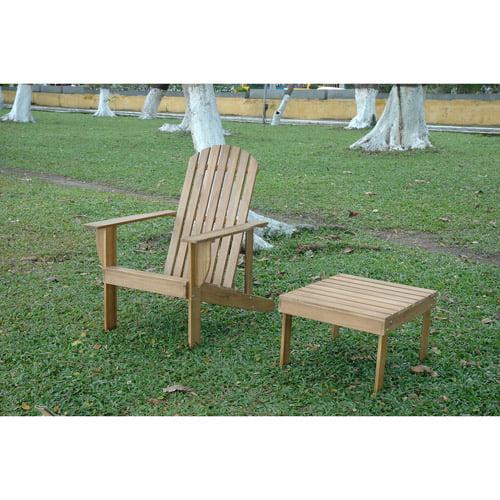 Muir Beach Outdoor Adirondack Chair with Footrest