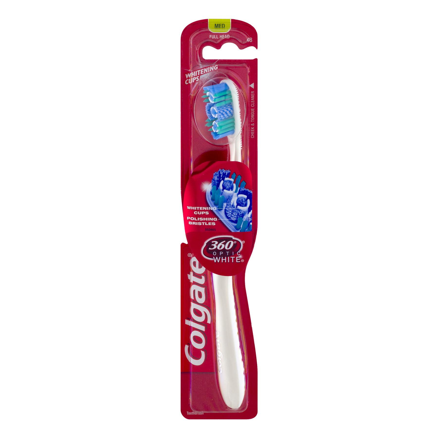 Colgate 360 Optic White Whitening Toothbrush, Medium