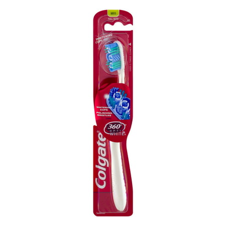 Colgate 360 Optic White Whitening Toothbrush, Medium