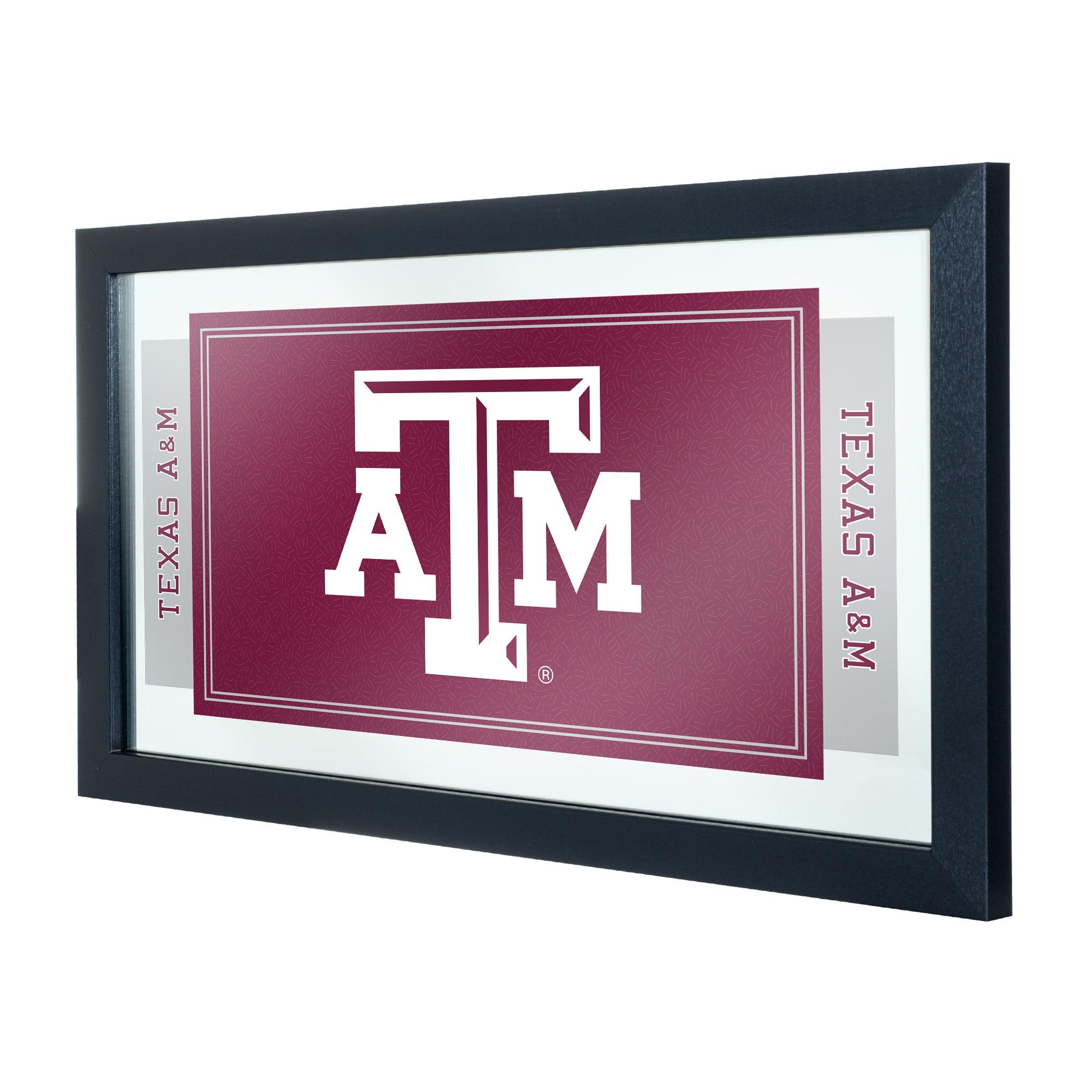 NCAA Texas A&M University Logo and Mascot Framed Mirror