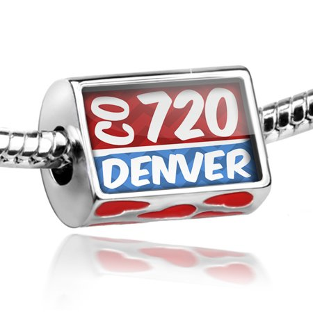 Bead 720 Denver  Co Red Blue Charm Fits All European Bracelets