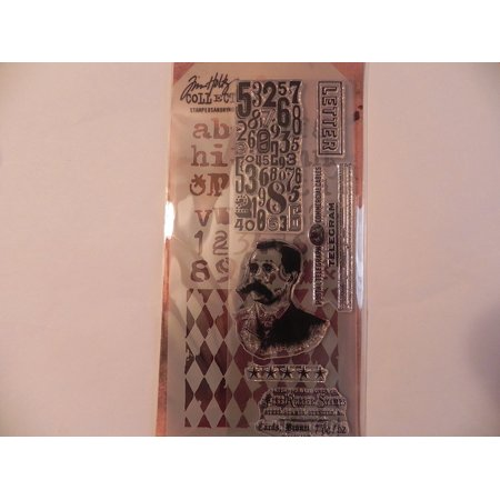 Stamper's Anonymous Collection Stamp & Stencil - Postal, Tiny 7Inch Distress Laboratory used Speckles Crazy CMS106 4125 Tree This Papillon 65Inch Damask Script 45Inch.., By Tim Holtz Ship from US (Damask Pattern Stencil)