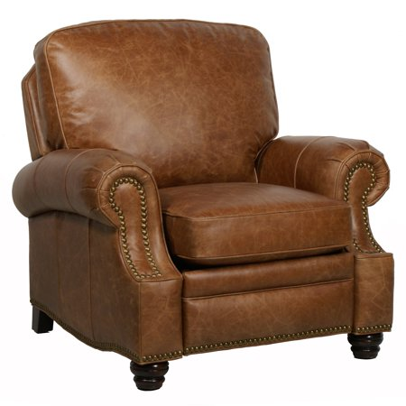 Barcalounger Longhorn II Leather Recliner with Nailheads ()