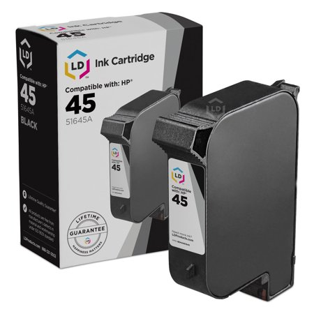 LD Remanufactured Replacement for HP 45 51645A Black Cartridge for Color Copier 110, 190, 280, DesignJet 700, 750cm, DeskJet 830C, 930C, Fax 1220, OfficeJet 1170, K80, PhotoSmart 1000, 1115 (Remanufactured Copier Laser)