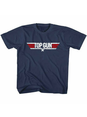 Top Gun 80s Action Military Movie Logo Navy Blue Little Boys Toddler T-Shirt Tee