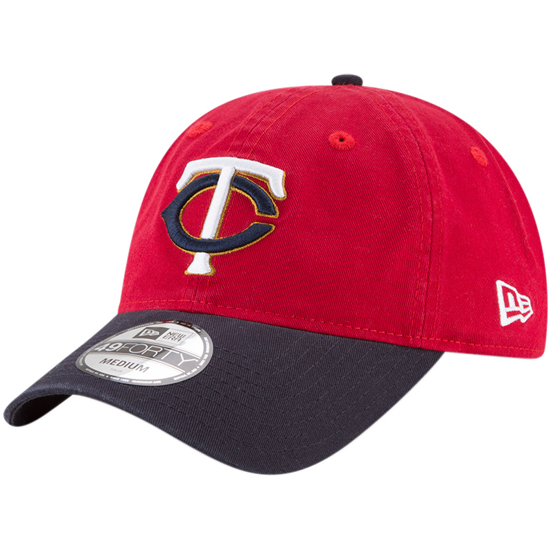 Minnesota Twins New Era Core Fit Replica 49FORTY Fitted Hat - Red