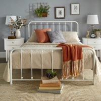 Weston Home Montgomery Spindle Metal Platform Bed, Multiple Sizes and Finishes