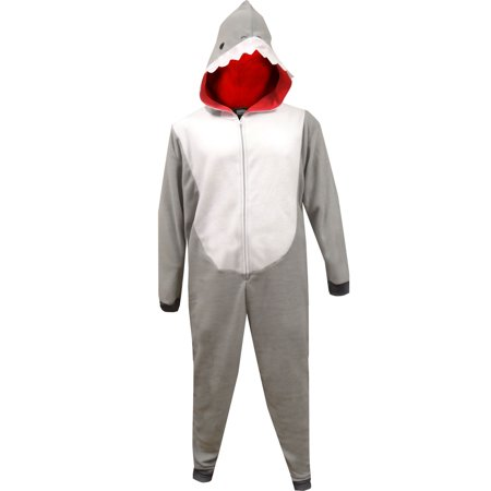 Shark Week Shark Union Suit Pajama (Shark Onesie Adult)