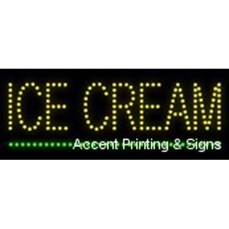 Ice Cream LED Sign (High Impact, Energy Efficient, Economically Priced)